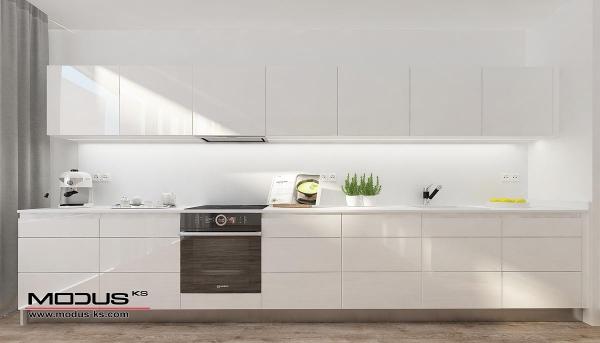 Интериорен проект на кухня СНЯГ