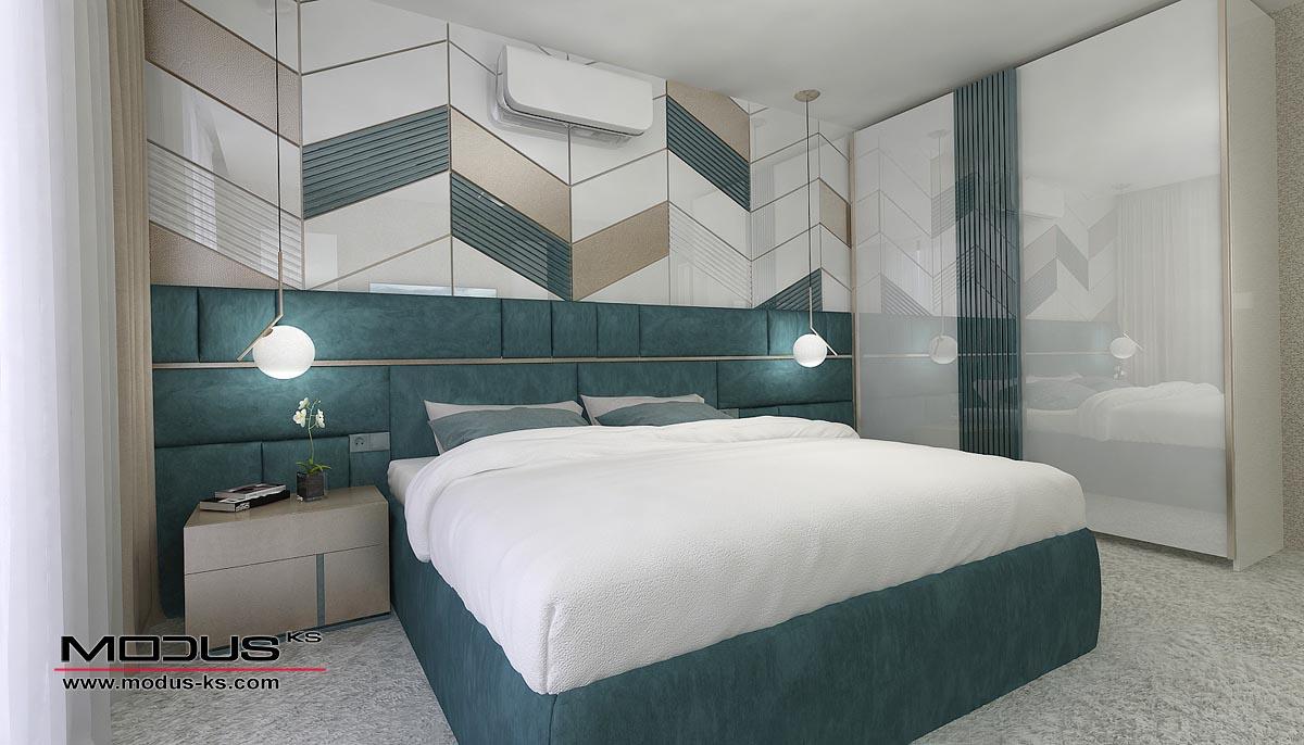 Интериорен проект на спалня ГЛАНЦ